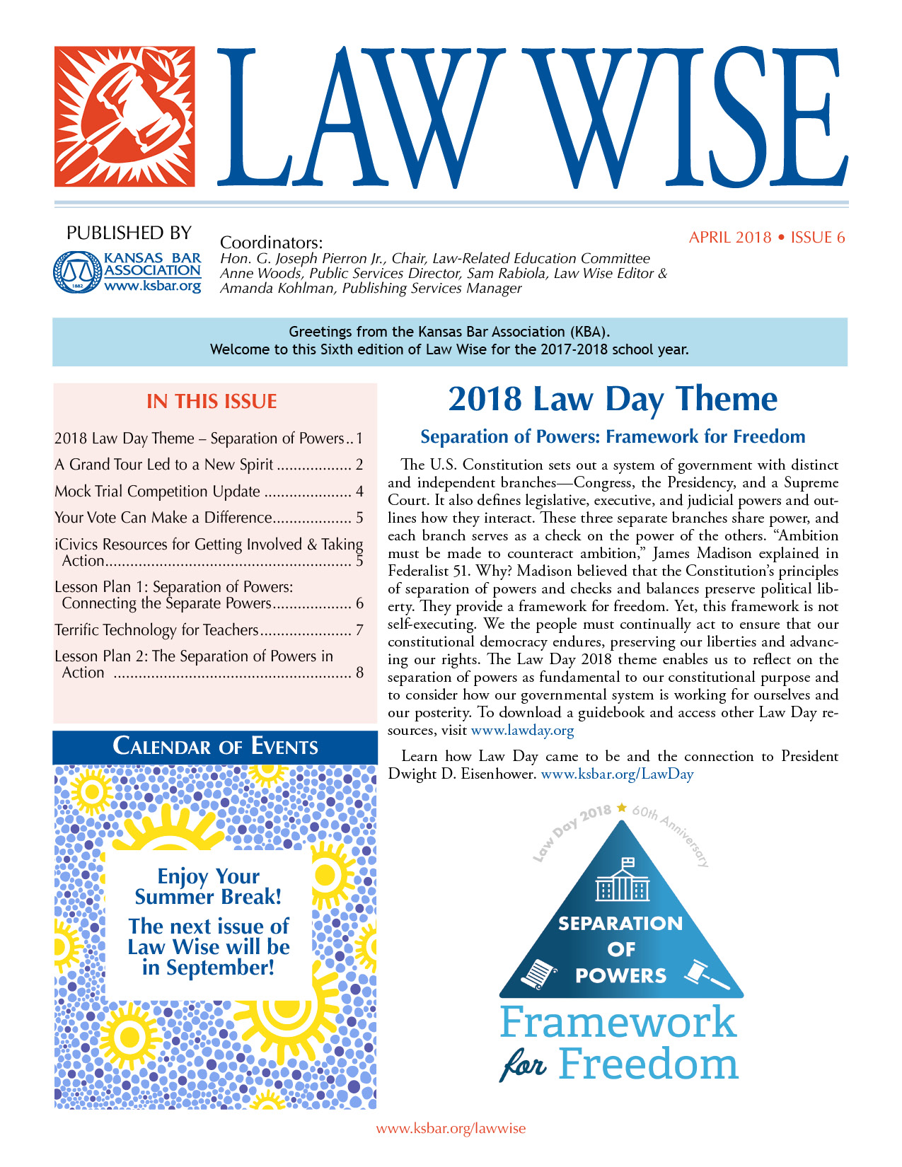 Law Wise Cover - Featuring Law Day