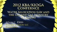 On Demand - Water Allocation Law and the Oil & Gas Industry in Kansas