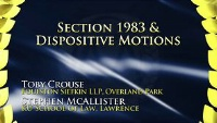 On Demand - Section 1983 & Dispositive Motions