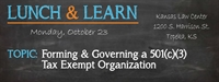Lunch & Learn:  Non-Profits: How to Start & Maintain a Tax Exempt Organization