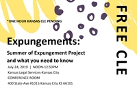 Expungements: Summer of Expungement Project and What you need to know