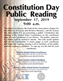 Constitution Day Public Reading (Wichita, Topeka, KC, KS)