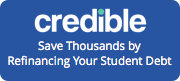 Credible logo - Save thousands by refinancing your student debt
