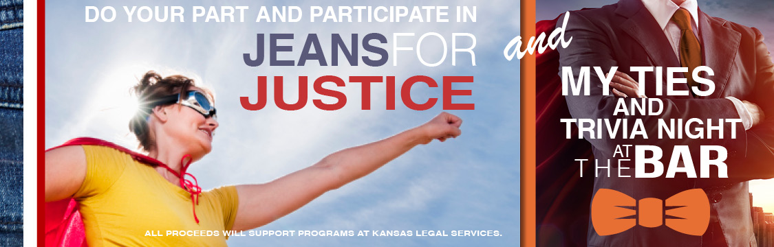 Do your part and participate in Jeans for Justice & My Ties Triva Night at the Bar!