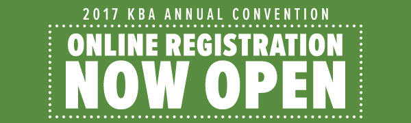 2017 KBA Annual Convention Online Registration Now Open