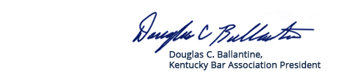 KBA President Douglas C. Ballantine's Signature