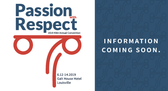 2019 KBA Annual Convention Logo