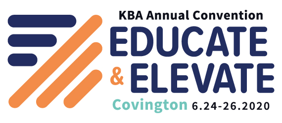 2020 KBA Annual Convention Logo - Educate and Elevate