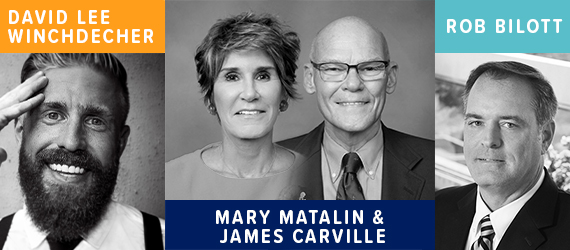 2020 KBA Annual Convention Speakers: David Lee Winchdecher, Mary Matalin and James Carville, and Rob Bilott