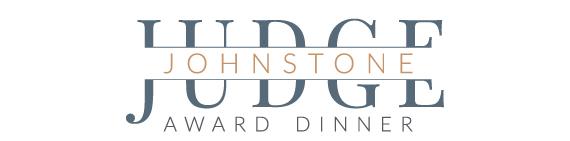 Judge Johnstone Award Dinner Logo