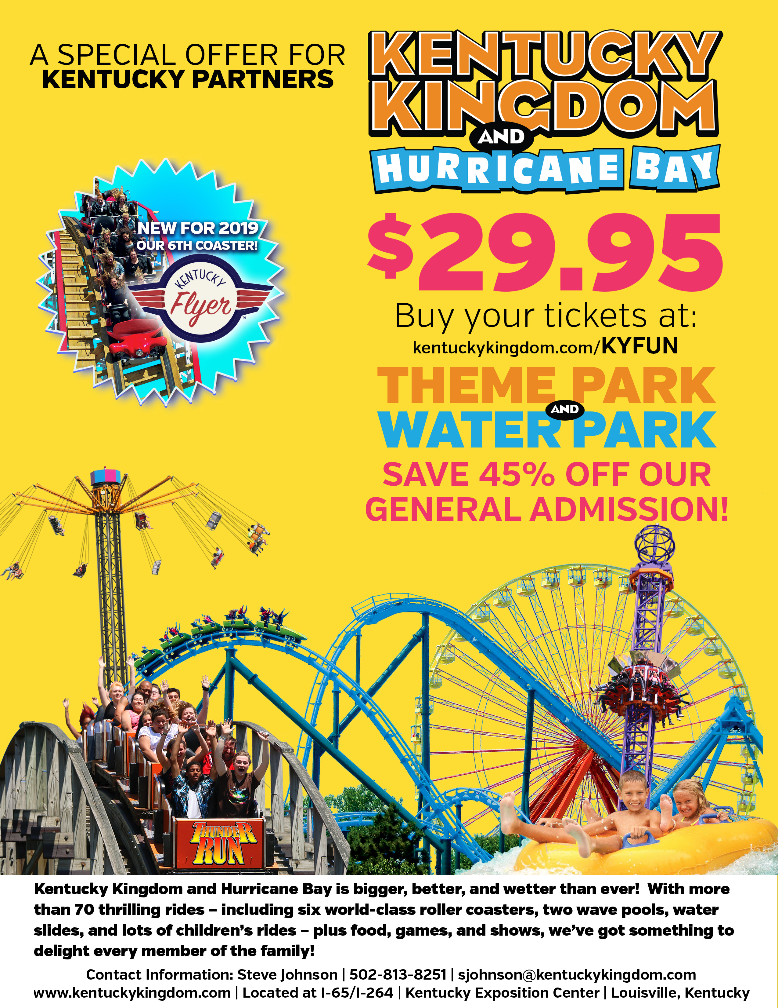 Kentucky Kingdom and Hurricane Discount Tickets for $29.95