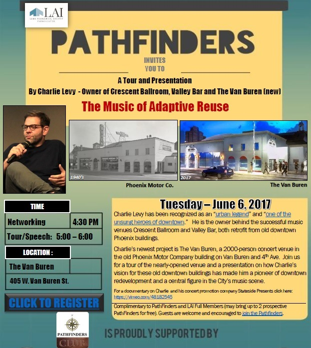 LAI, PathFinders: The Music of Adaptive Reuse @ The Van Buren | Phoenix | Arizona | United States