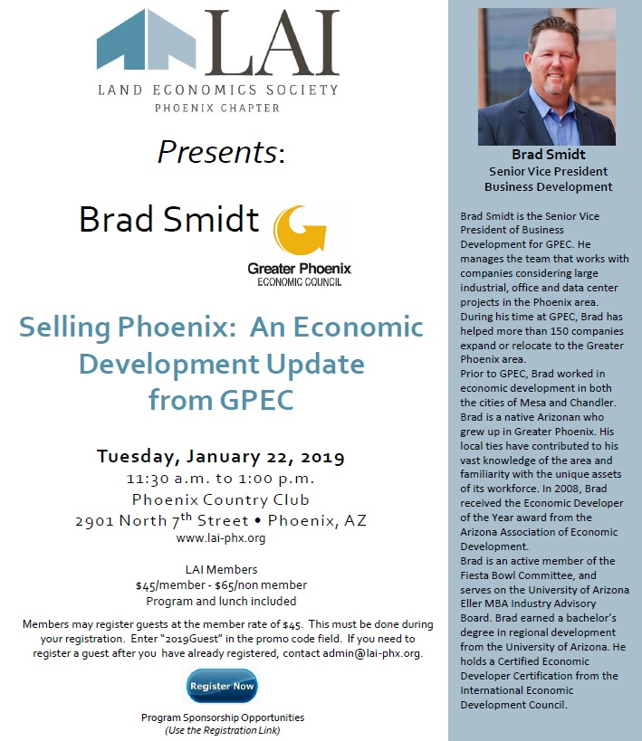 Selling Phoenix: An Economic Development Update from GPEC @ Phoenix Country Club