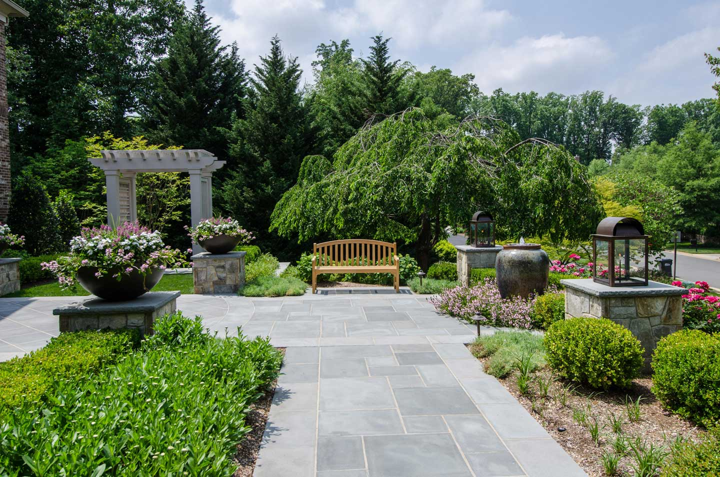 Front Residential Planting and Entranceway - Landscape Contractors ...