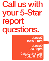 Call Us with Your 5-Star Report Questions