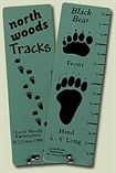 North Woods Animal Tracks Guide Tags on a Ring #274