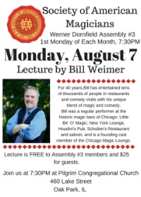 Bill Weimer Lecture-August 7th