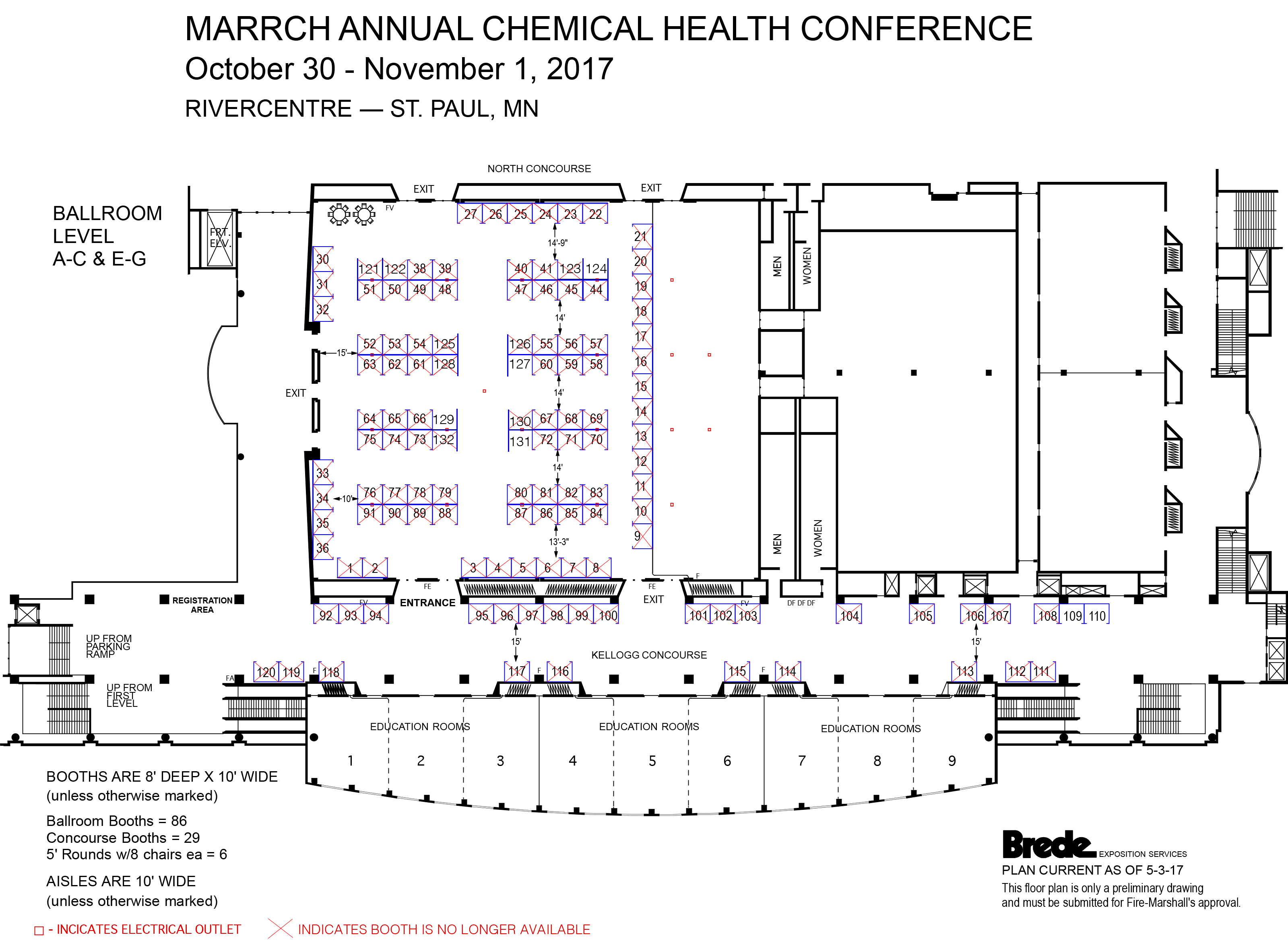 2017 Exhibit Hall Layout