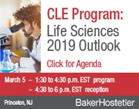 CLE Program: Life Sciences 2019 Outlook