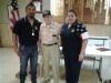 Honoring and Remembering VJ-Day at Post 1480 with 1 of our own WWII veterans Frank Gear (center) with Commander Vince and Ladies Auxiliary Gloria.