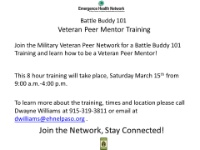 Battle Buddy 101 Peer Mentor Training