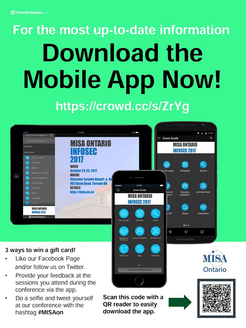 Download the MISA Ontario Event App for InfoSec 2017 - Municipal