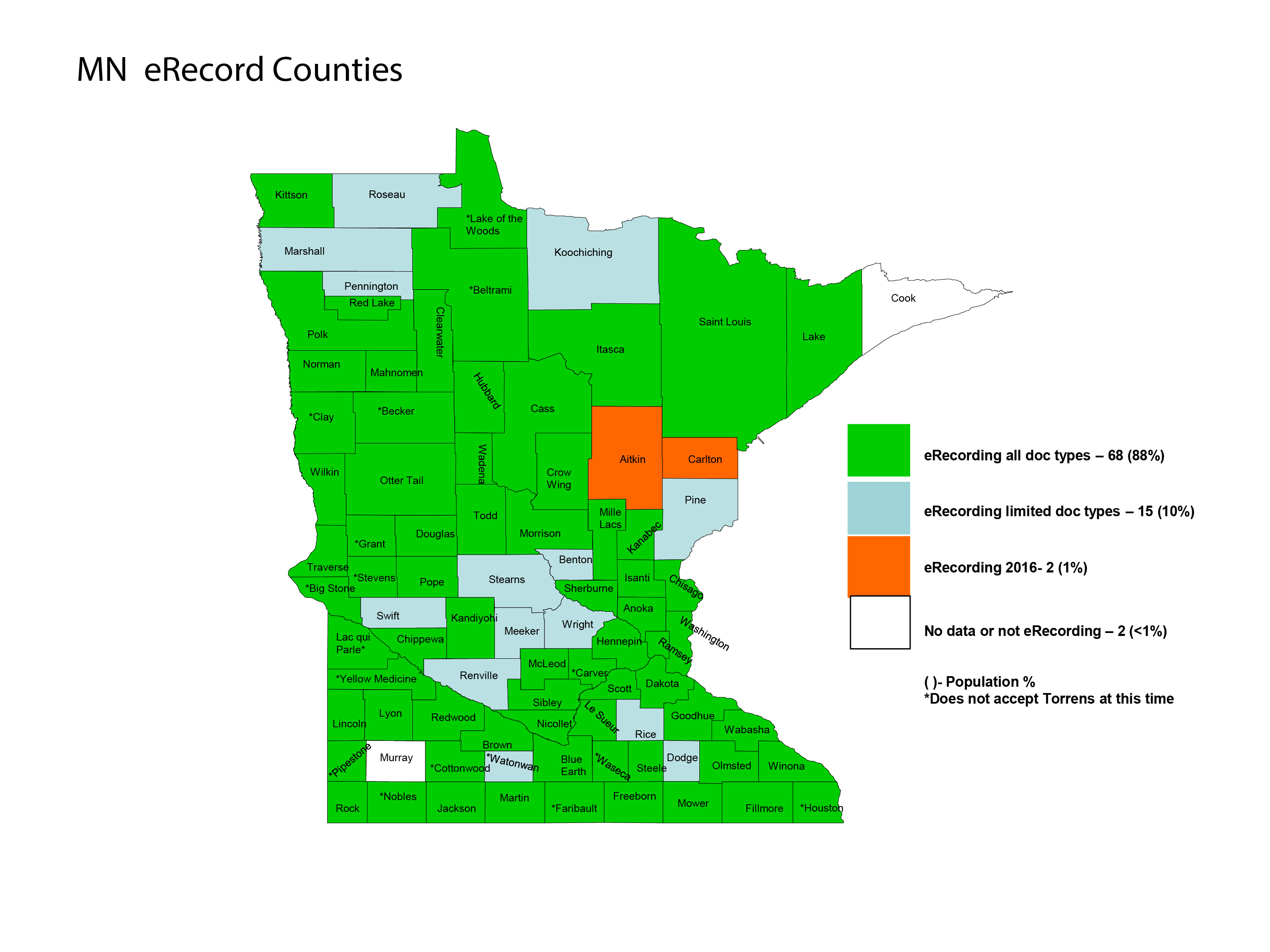 e-counties map