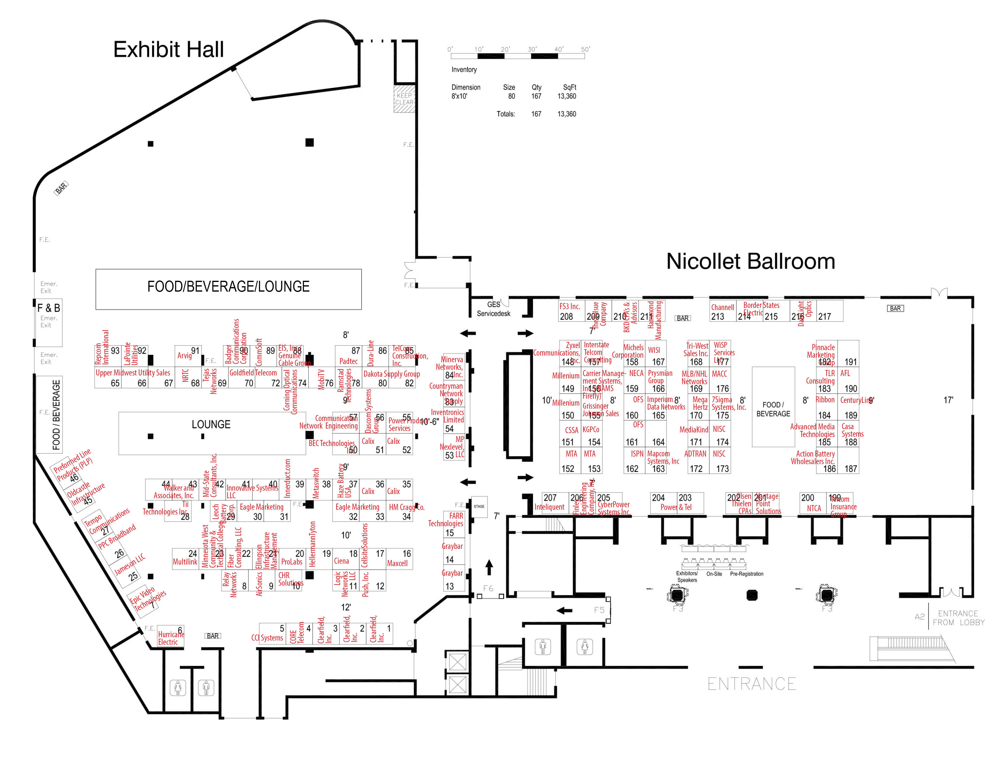 MTA 2020 Convention Exhibitor Floorplan with Assignments
