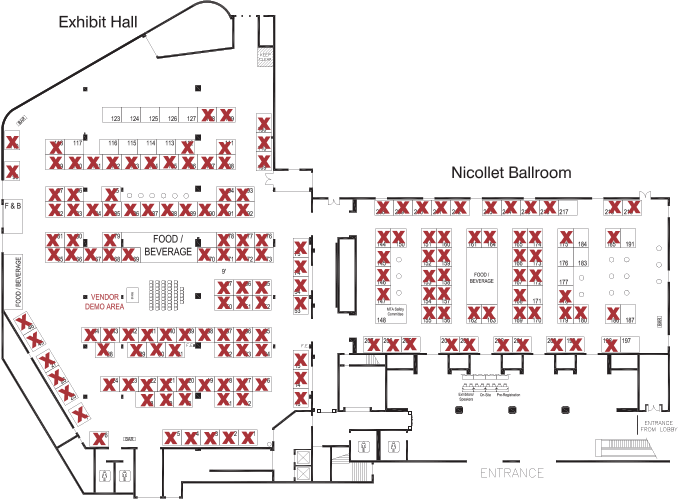 MTA 2016 Convention Exhibitor Floorplan