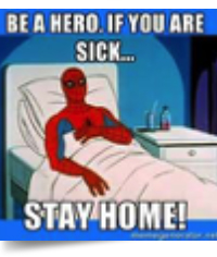 be a hero, stay home