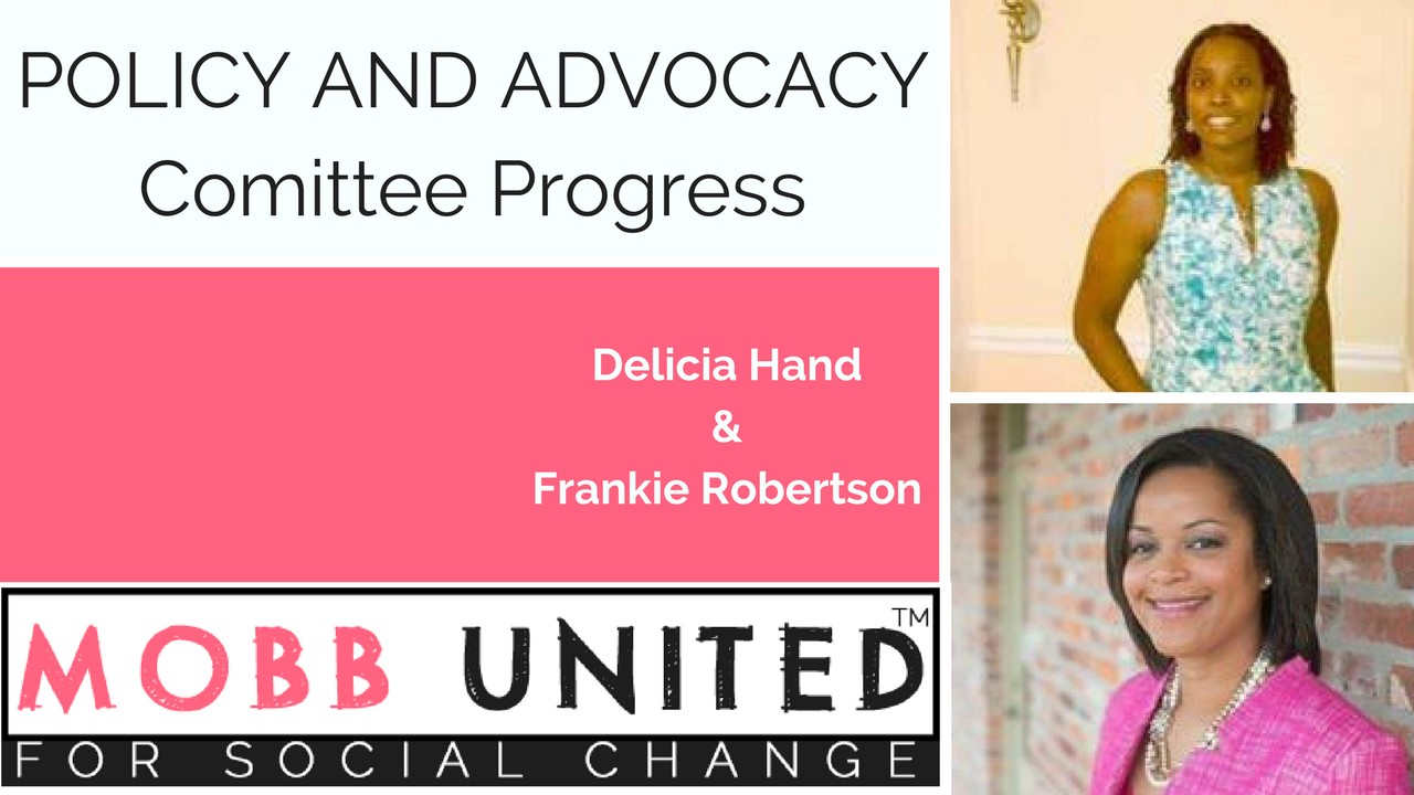 MUSC Policy and Advocacy Committee Progress, Delicia Hand & Frankie Robertson