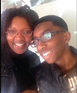 Mom Carnisa Berry and Bryson, 15