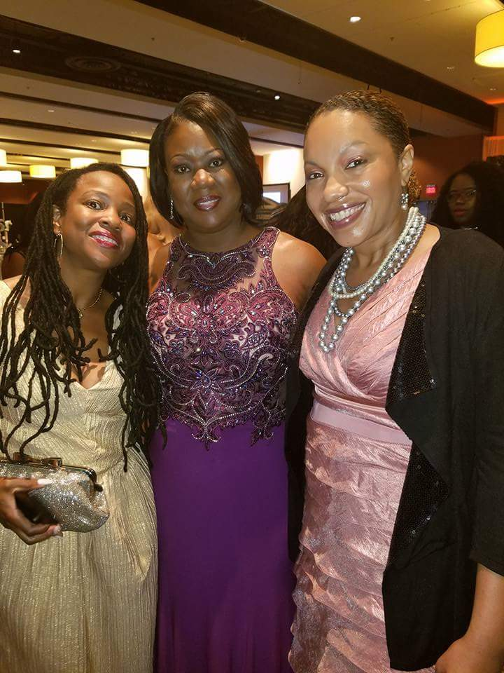 Left to Right: Vanessa McCullers, Sybrina Fulton, and MOBB United Founder Depelsha McGruder