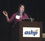 Amanda Brummel presents at ASHP