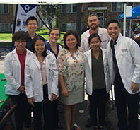 Sen. Patricia Torres Ray with student pharmacists