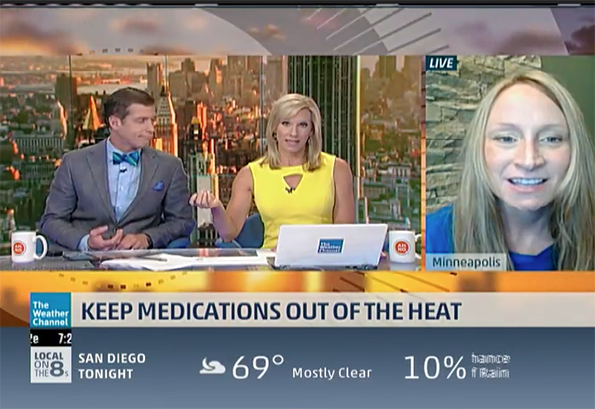 Sarah Westberg on The Weather Channel