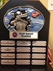 Clay Shoot Classic Plaque