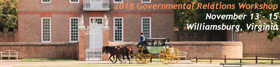 2018 GR Workshop - November 13-15 - Williamsburg, Virginia
