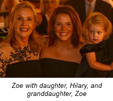 Zoe with daughter, Hilary, and granddaughter, Zoe
