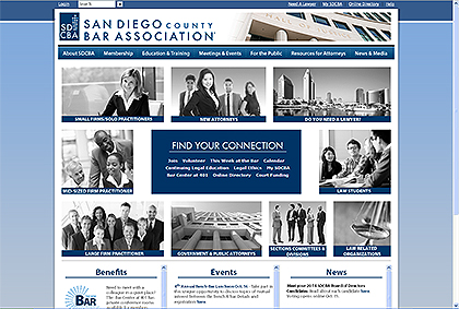 San Diego County Bar Association Website Screen Capture