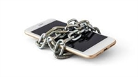 Phone wrapped in chains