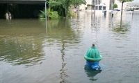 Flooded hydrant