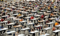 Large group of test takers