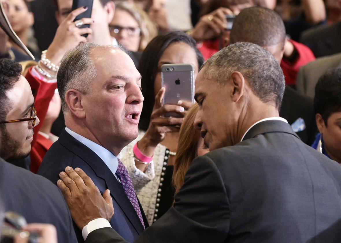 President Obama and Louisiana Governor