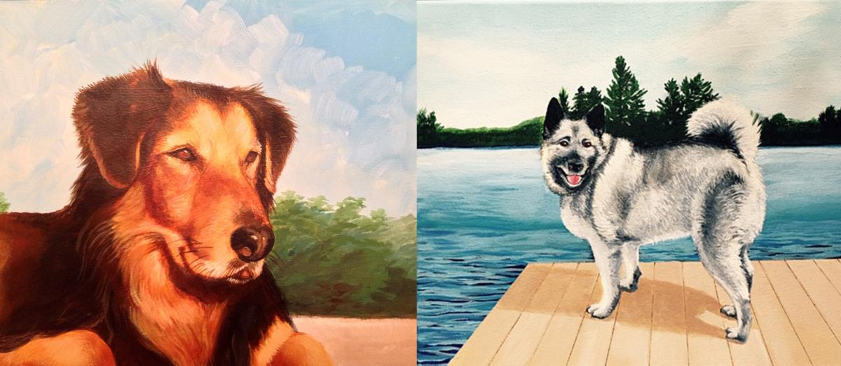 pet portraits created by Nancy
