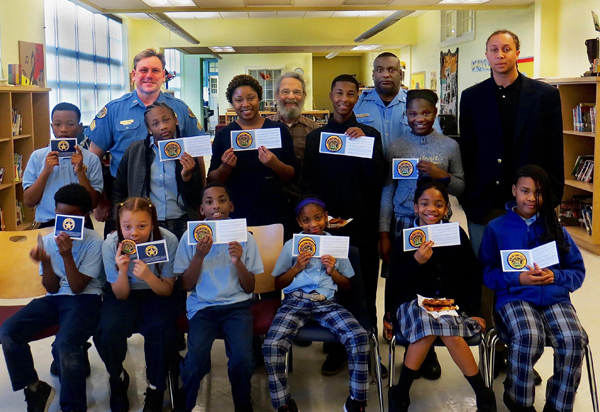 New Orleans Police Officers with 5th Grade Students
