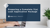 WEBExpress: Preparing a Complete 7(a) Loan Application Package