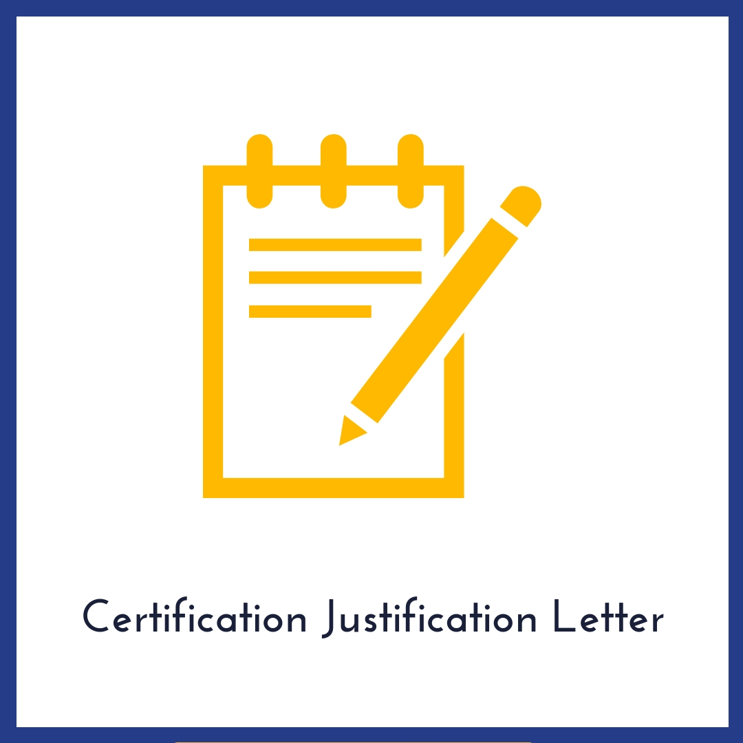 certification justification button