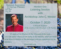 NALM Listening Session with Archbishop Wester