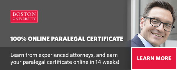Boston University Paralegal Certificate